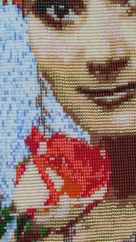 Вышивка из бисера портрет