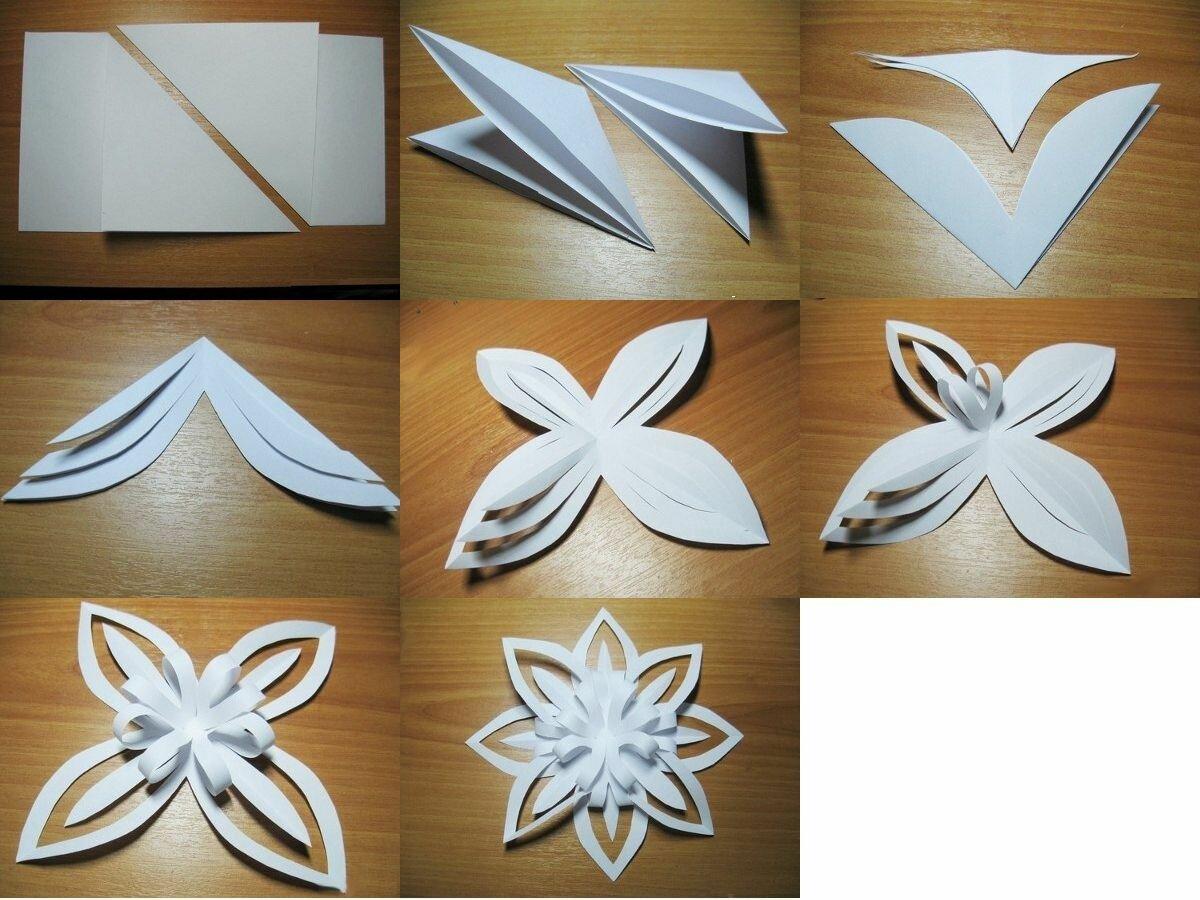 Новые объемные снежинки из бумаги своими руками