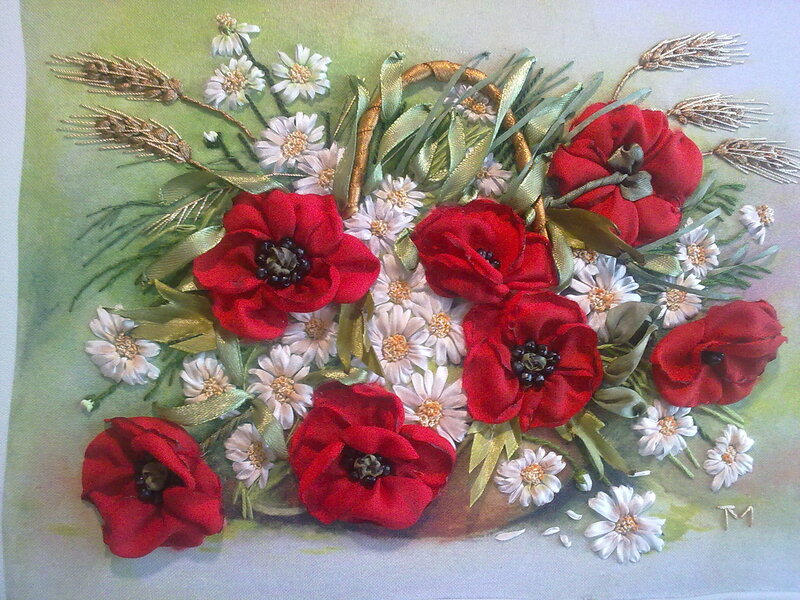 Розу с лентами своими руками фото 201