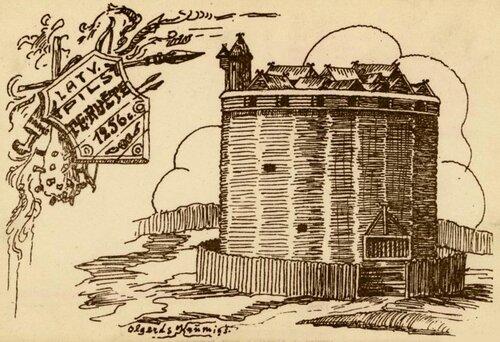 Фантастическая реконструкция земгальского замка