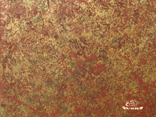 декоративная штукатурка красно-золотая светлая