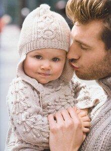 Веточки и шишки для девчонки и мальчишки (шапка и кофта)