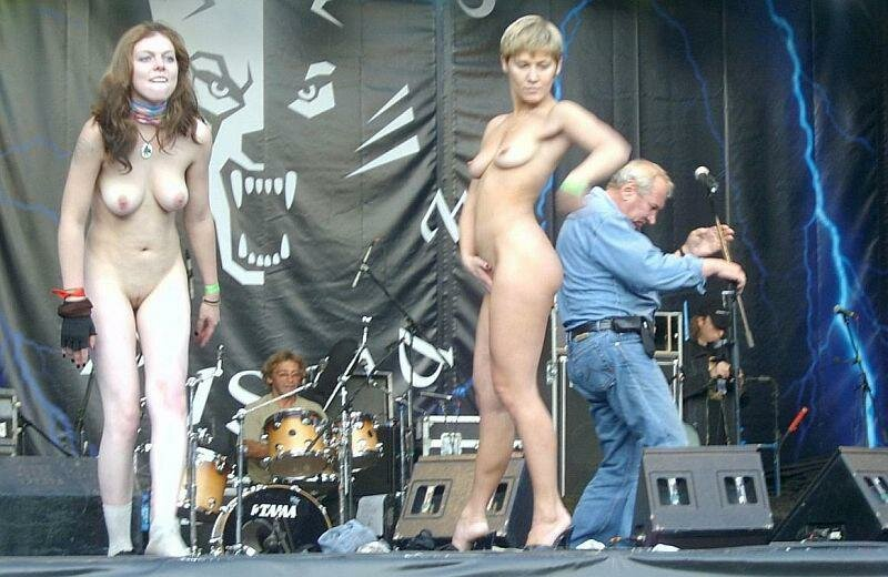 Girls topless girls at music concerts party sex