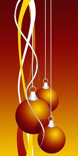 С Новым годом! Три свисающих шарика