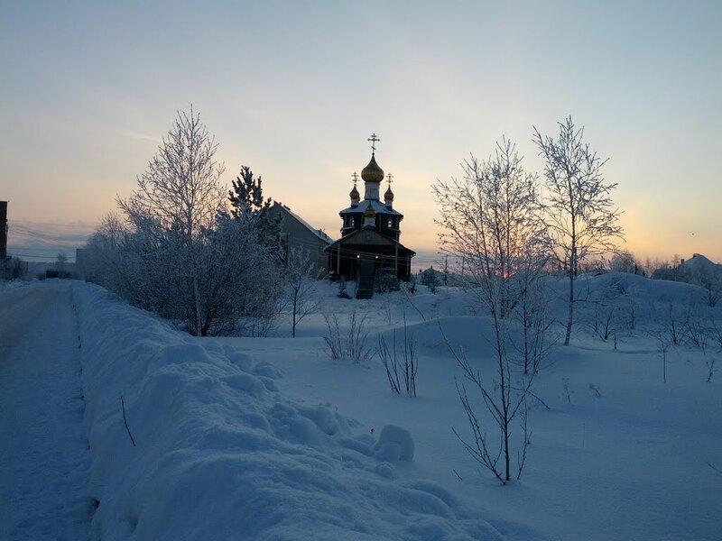 Вид на Кременкульский храм зимой (14.10.2013)