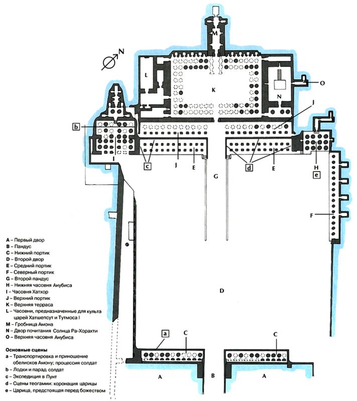 План храма Хатшепсут.