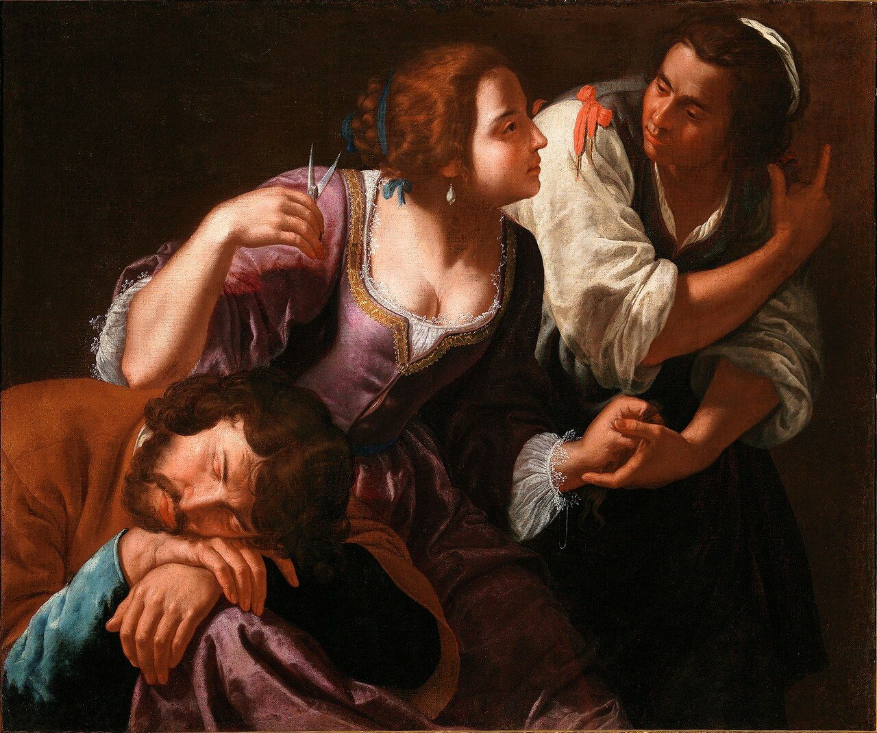 Artemisia Gentileschi / Артемизия Джентилески (1593-1653) - Sansone e Dalila / Самсон и Далила (около 1630-1638)