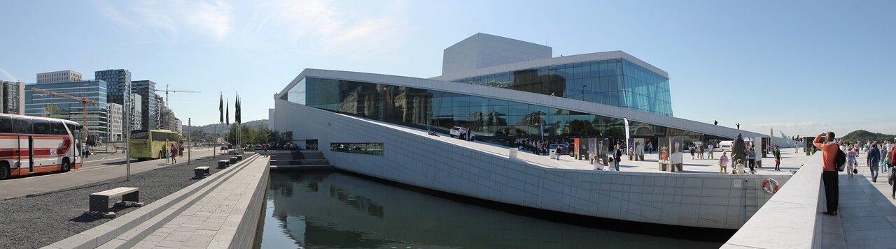 Oslo, Opera House. Осло,Оперный театр, panorama