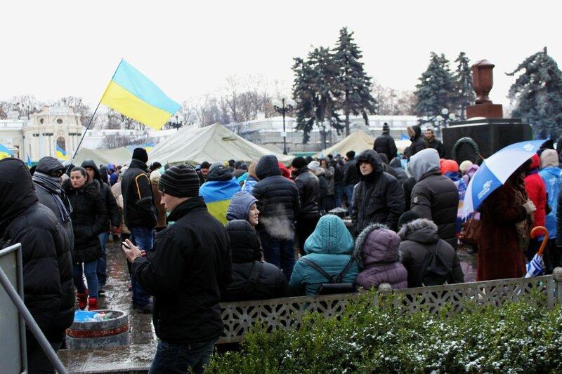 Антимайдан Януковича на площади Конституции