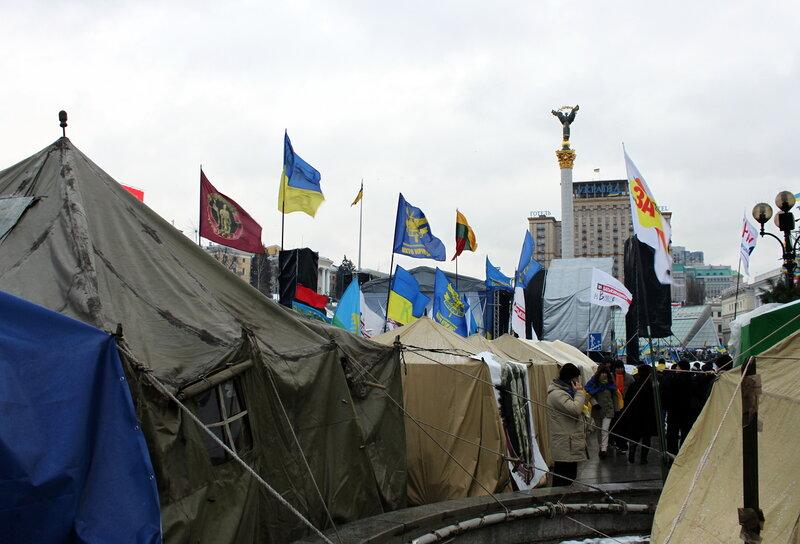 Палаточный лагерь Евромайдана