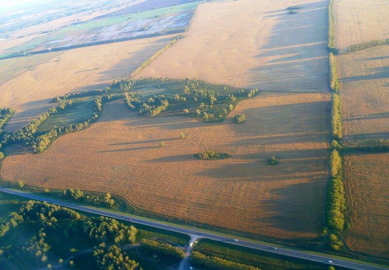 Вид из самолета - Новосибирск, Толмачево (View from the plane - Novosibirsk Tolmachevo).