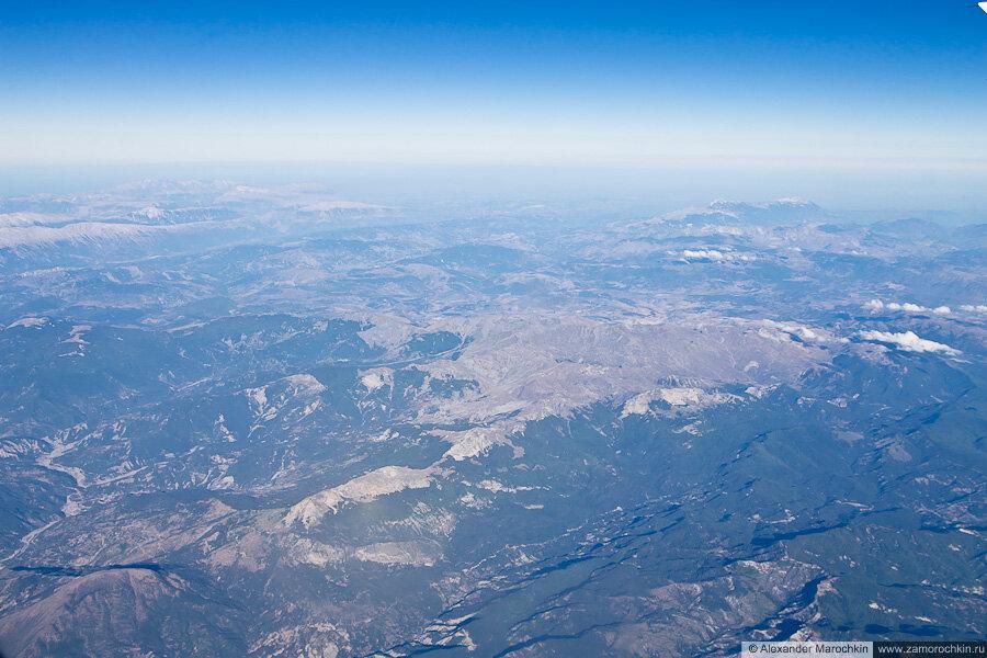 Балканы с самолёта