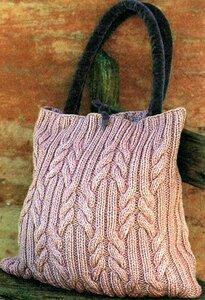 посмотреть на Красивые и довольно простые. сумки вязанные спицами.