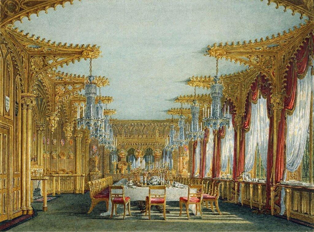 Carlton House: Готический Столовая, 1817