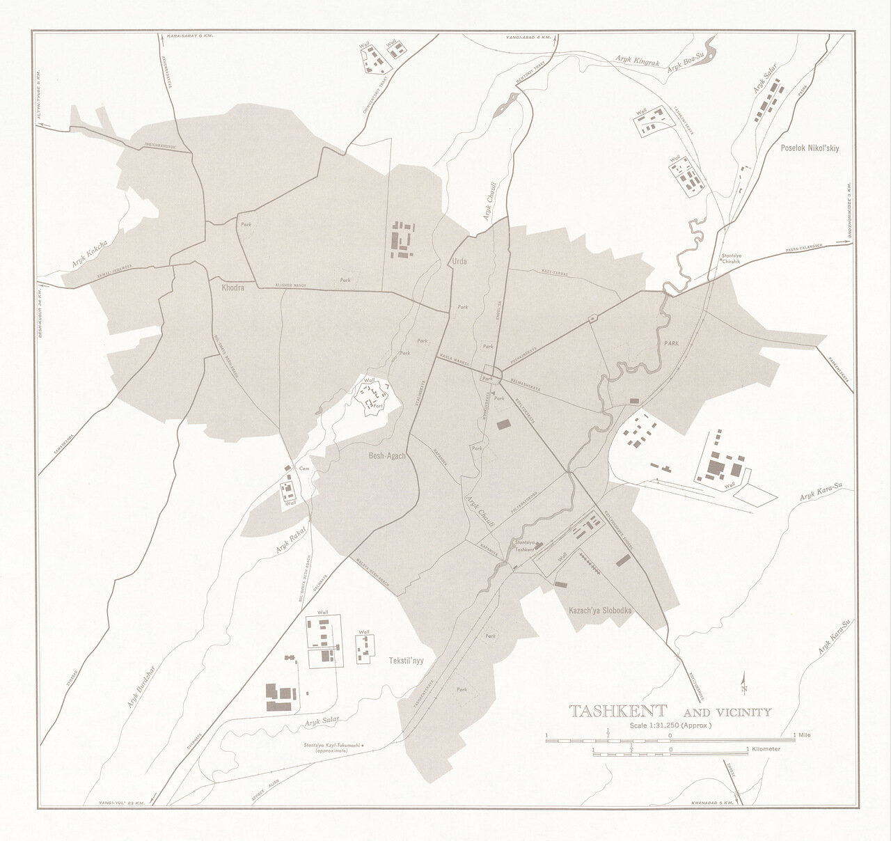 Ташкент и окрестности