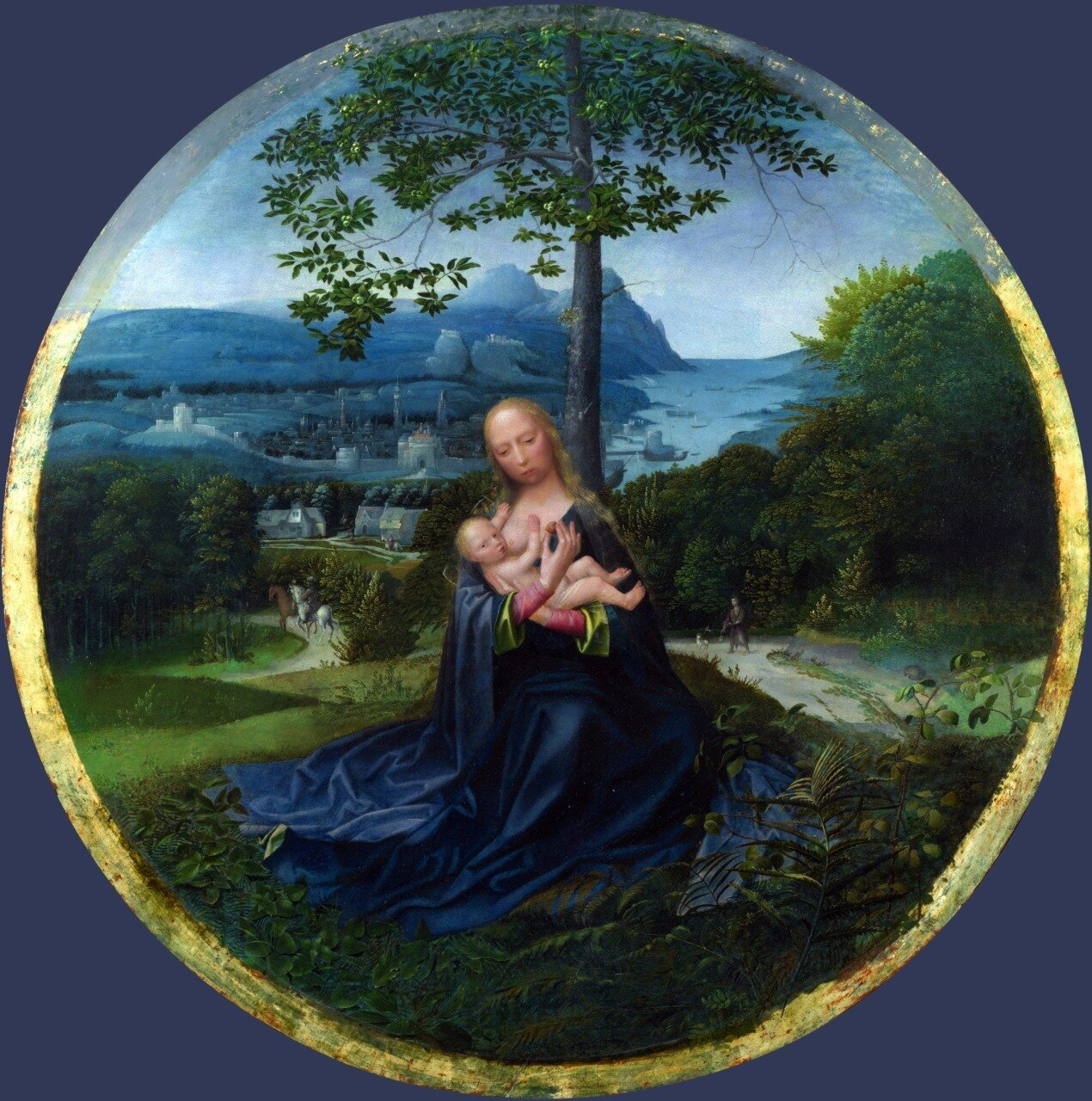 The Virgin and Child in a Landscape