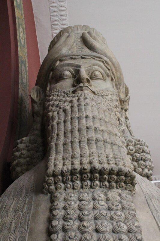 Слепки с рельефов из дворца ассирийского царя Ашшурнацирпала