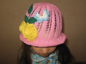 Летние вязанные шапочки,  шляпки и косынки 0_68fa5_2c56fb1a_M