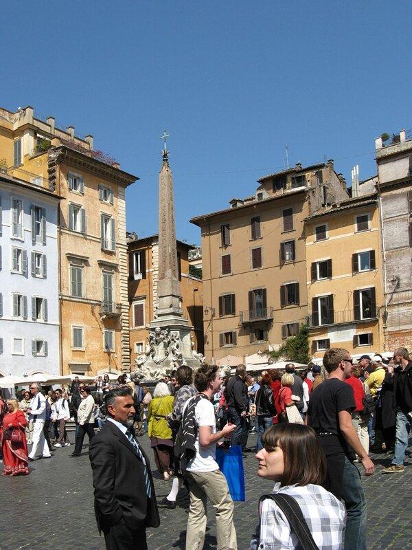 Рим. Площадь Ротонды (Piazza della Rotonda). Фонтан Пантеона
