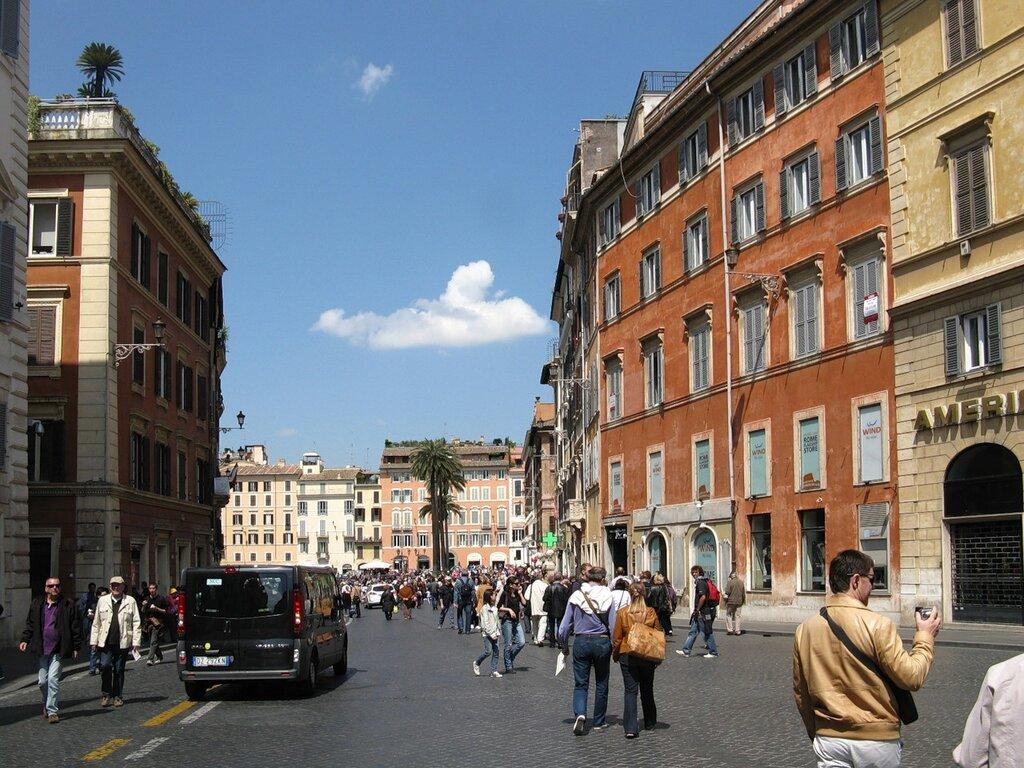 Рим. Площадь Испании (Piazza di Spagna)