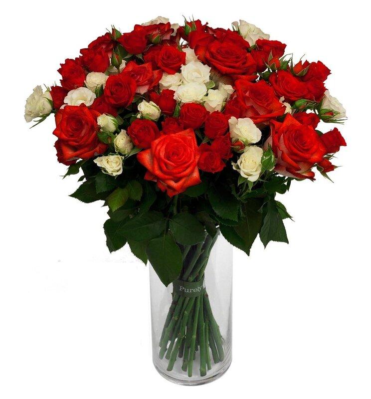 Картинки цветы красивые букеты роз с днем рождения картинки