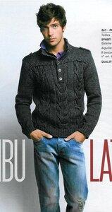 Офицерский пуловер спицами для настоящего мужчины
