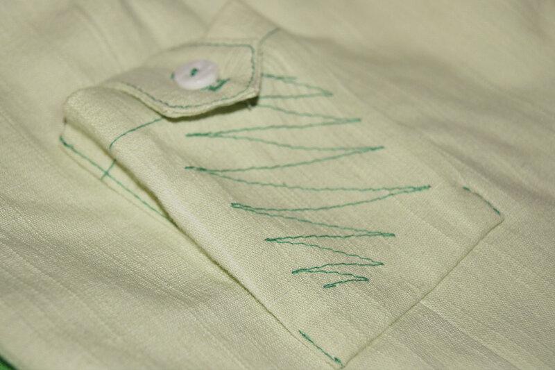 Кармашек накладной на брюках