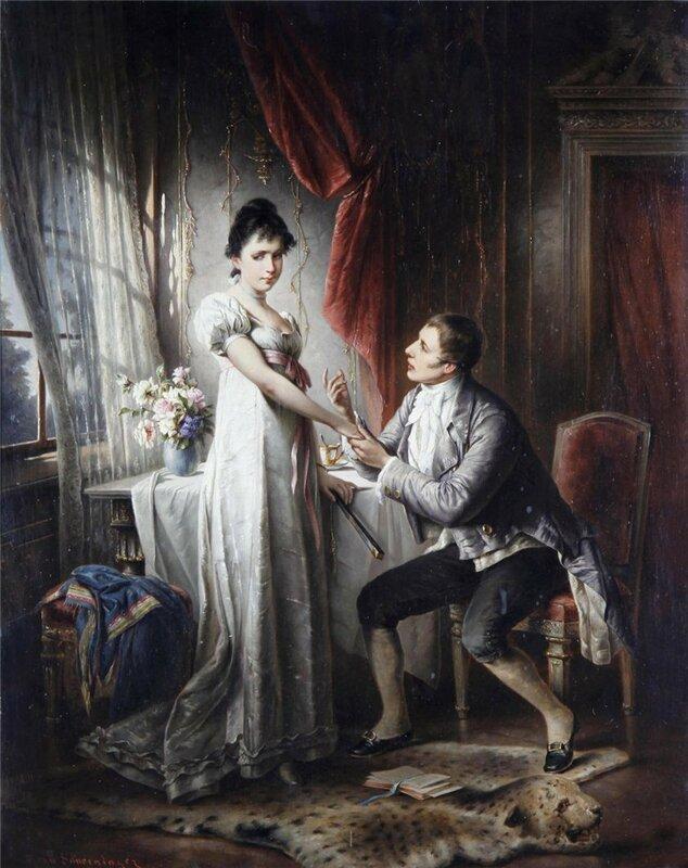 Австрийский художник Carl Schweninger (1854-1903)