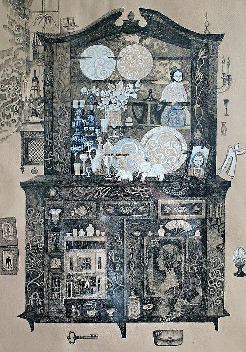 0- Алла Колпакова - графика - буфет бабушки. воспоминания или живой буфет.jpg