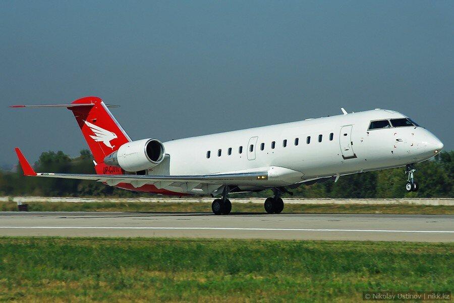 Bombardier CRJ 100 в аэропорту Алматы