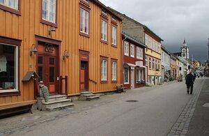Рёрус, старый шахтерский город. Деревянная архитектура. Røros, old mining town. wooden architecture