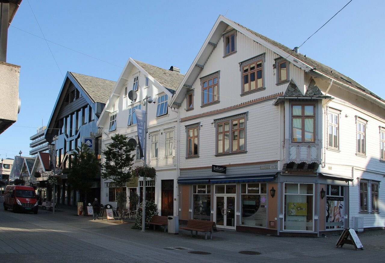 Haugesund. Haraldsgate walking Street