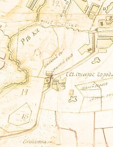 Местонахождение второй белгородской крепости на ПГМ 18 века