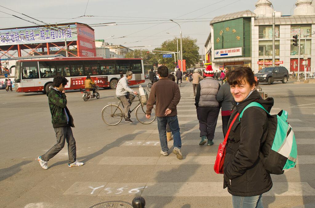 На улицах Пекина. По пути к участку Мутяньюй (Mutianyu Great Wall)