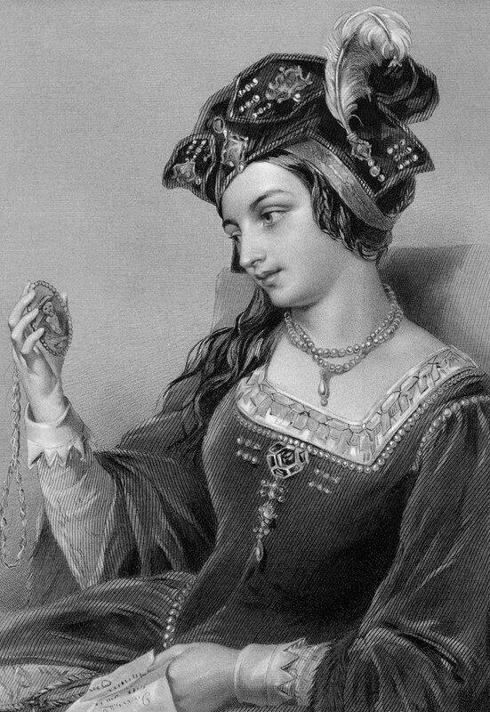 Анна Болейн, вторая жена Генриха VIII, рис. О'Нейла