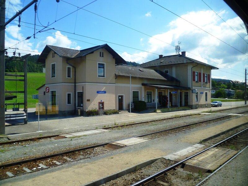 Вокзал в Австрии (Железнодорожный вокзал в Австрии)