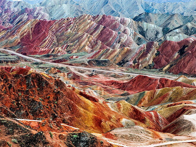 Ландшафт Дэнксия. Китай
