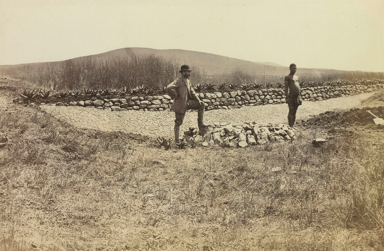 Земля, на которой был построен мемориал Наполеона, погибшего в Зулуленде. 1880