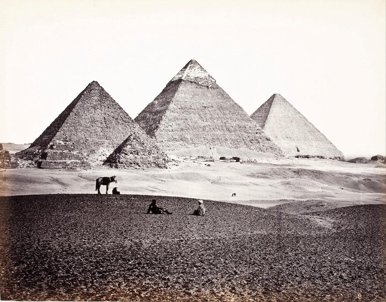 Пирамиды Эль-Гизы (с юго-запада)