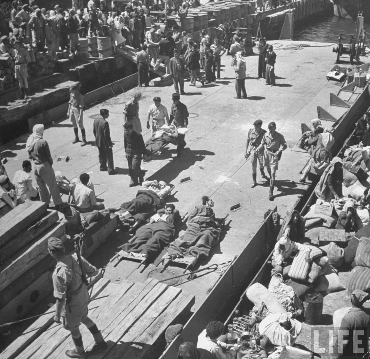 1948. Арабские беженцы покидают Хайфу
