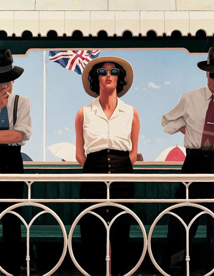 Bird on the Wire, by Jack Vettriano