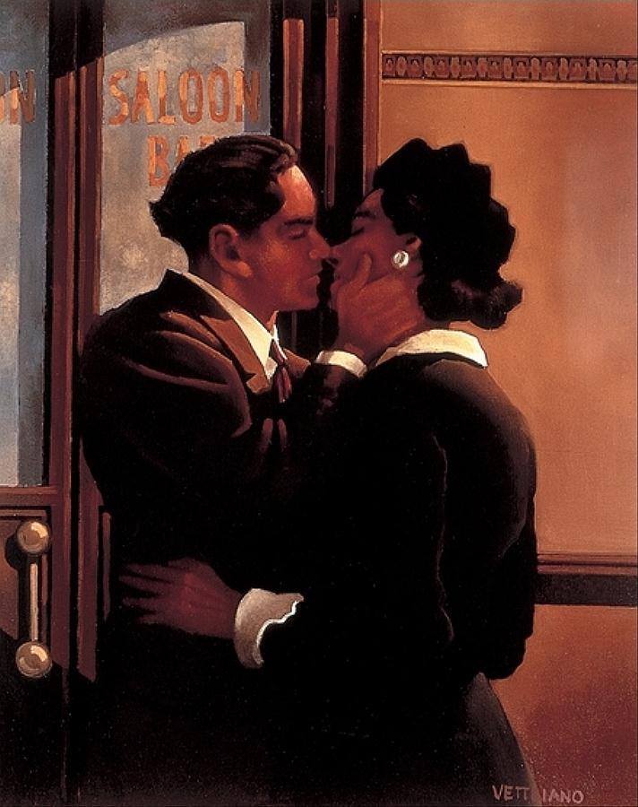 A Fond Kiss, by Jack Vettriano