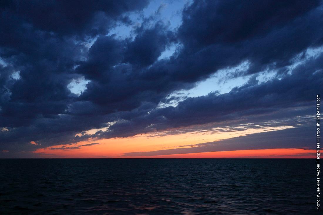 Каспийское море закат