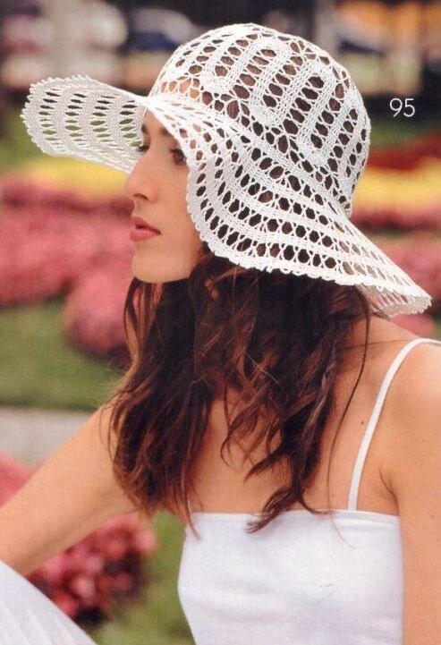 Описание: цветы крючком со схемами на детскую шляпу с полями.