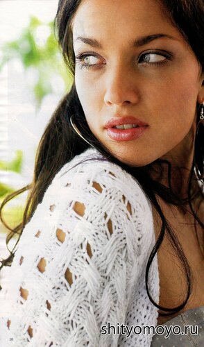Бесплатные модели и схемы вязания спицами: белое болеро