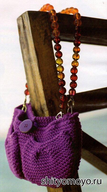 b0b8e508cc75 Вязание спицами модели схемы бесплатно: фиолетовая сумка/Статьи ...