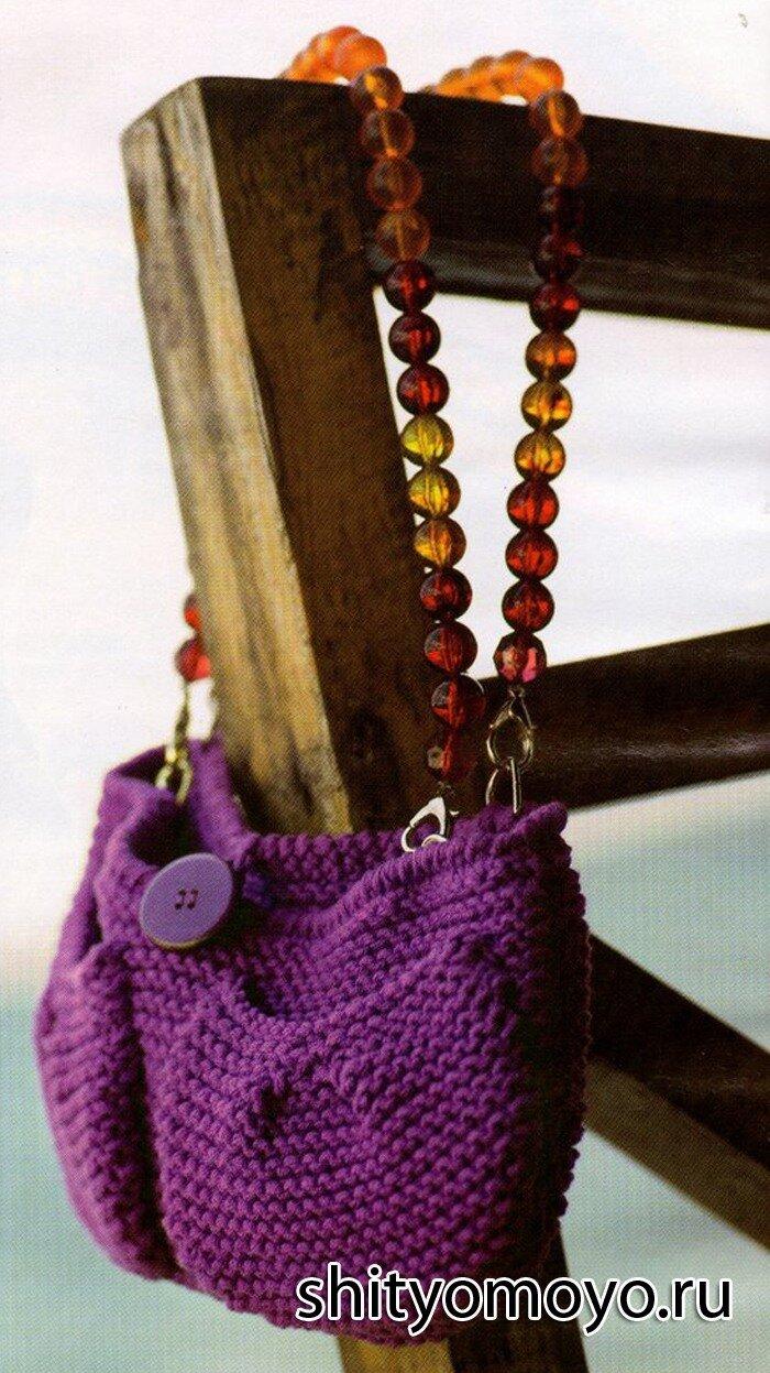 439b778ef10f Вязание спицами модели схемы бесплатно: фиолетовая сумка/Статьи ...