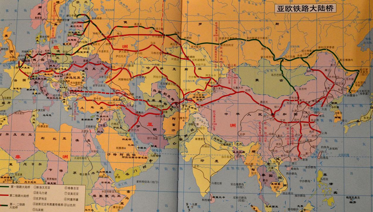 схема основных направлений транзитных грузопотоков