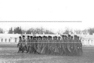 Подразделение полка на параде.