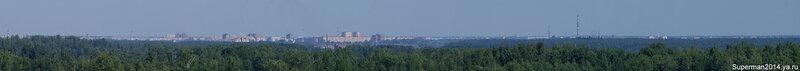 Вид на Орехово-Зуево с крыши заброшенного профилактория в Ликино-Дулёво